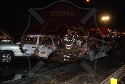 North Massapequa F.D. MVA w/ Double Car Fire S.S. Pkwy. between Exit 29-30 12/3/09
