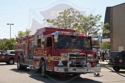 North Massapequa F.D. Multiple Car Fires 1399 Hicksville Rd. 9/4/14