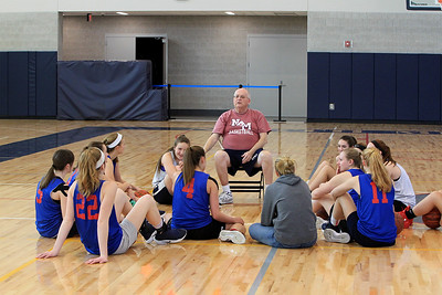 North Middlesex Girls Basketball Practice  - December 4 2017