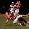 Jake Hachey looses the ball on the tackle