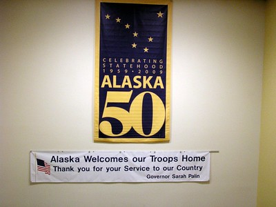 We would end up seeing a very strong military contingent during our visit to Alaska.