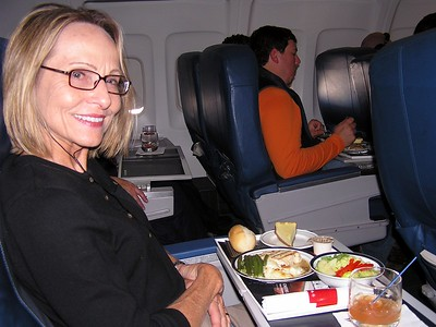 Carol insists on flying first class......just kidding.