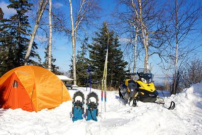 My campsite in Temperance River State Park Minnesota.