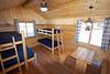 This is the inside of the camper cabin at Jay Cook State Park. It's a nice warm space, it got cold again Monday night so I was glad to have an opportunity to  dye out my tent from camping the night before.
