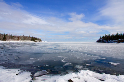 This is Split Rock lighthouse State Park. I have a wide angle lens on the camera you have to look pretty hard to see the lighthouse.