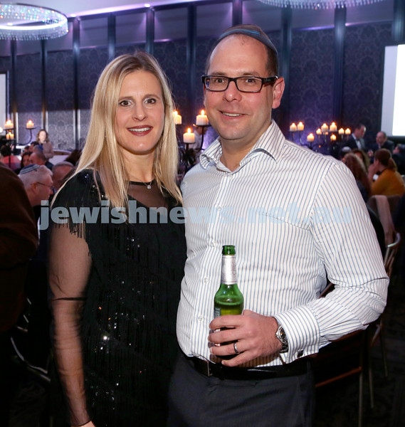 Chabad Noth Shore's Friends Of Chabad Gala Dinner at Curzon Hall. Tania & Dion Cohen. Pic Noel Kessel.