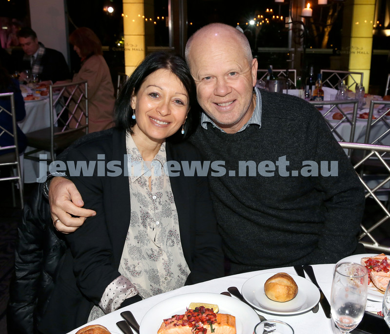Chabad Noth Shore's Friends Of Chabad Gala Dinner at Curzon Hall. Michelle & Colin Kangisser. Pic Noel Kessel.