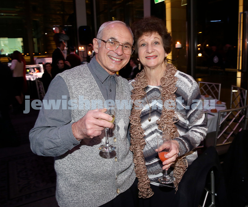 Chabad Noth Shore's Friends Of Chabad Gala Dinner at Curzon Hall. Tony & Charmene Britton. Pic Noel Kessel