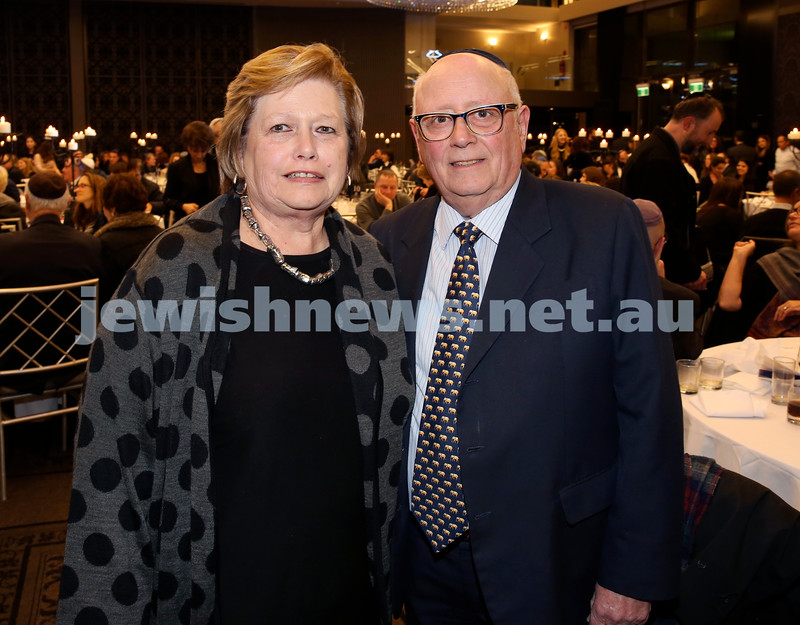 Chabad Noth Shore's Friends Of Chabad Gala Dinner at Curzon Hall. Veronica & Ivan Kessel. Pic Noel Kessel.