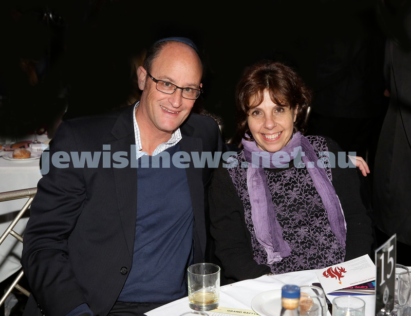 Chabad Noth Shore's Friends Of Chabad Gala Dinner at Curzon Hall. Allan & Irene Fink. Pic Noel Kessel.