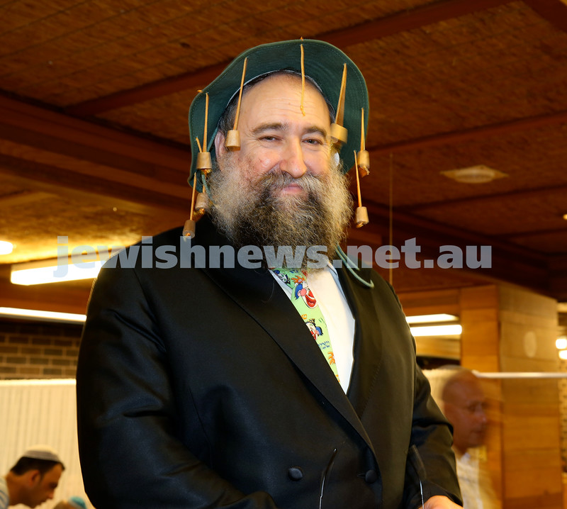 Chabad North Shore Purim in the Jungle Party. Rabbi Nochum Schapiro. Pic Noel Kessel.