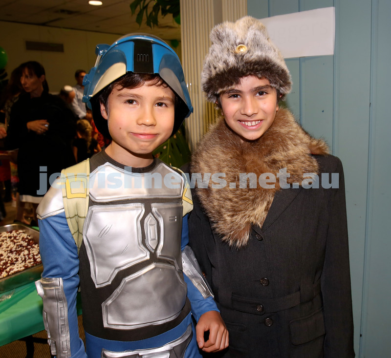 North Shore Chabad Purim In the jungle party. Mika Nobel & Levi Kastel. Pic Noel Kessel.