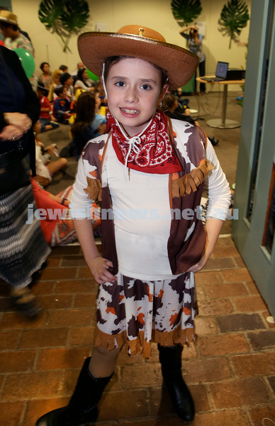 Chabad North Shore Purim in the Jungle Party. Liorah Kessel. Pic Noel Kessel.