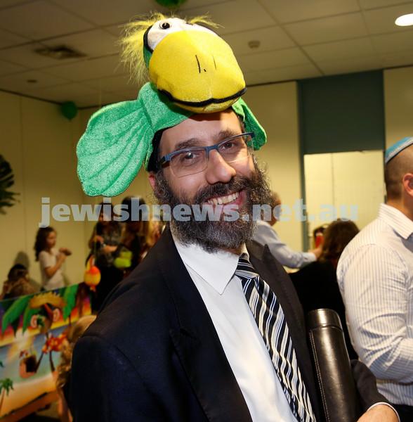 North Shore Chabad Purim In the jungle party. Rabbi Zalman Kastel. Pic Noel Kessel.