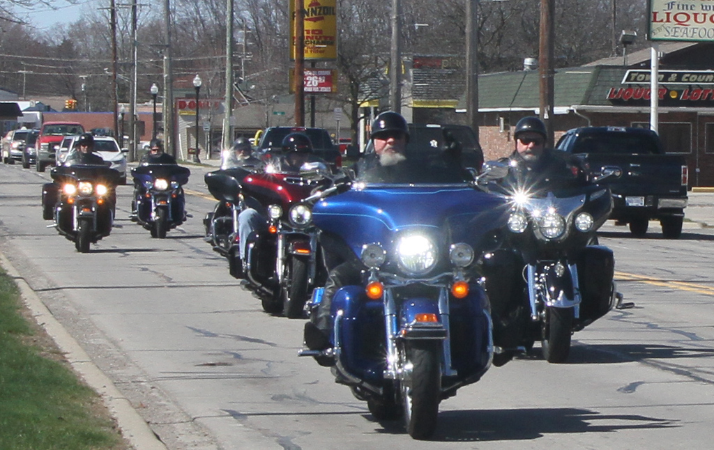 . The bikers hit New Baltimore early
