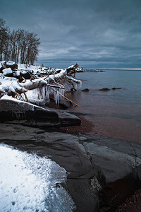 The North Shore of Lake Superior got it's first real snow over the weekend following Thanksgiving, 2012.  This is a view from a park near Duluth, MN on a cold morning shortly after the snowfall ended.