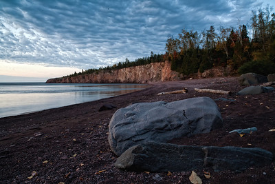 Sunrise over Lake Superior's Shovel Point