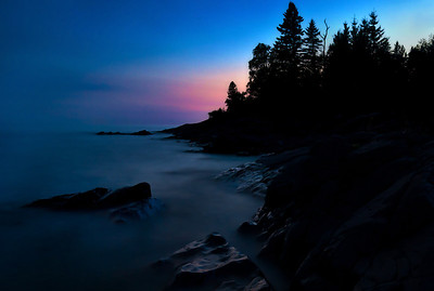 Lake Superior Shoreline Silhouette