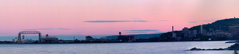 Evening skyline of Downtown Duluth, Minnesota.