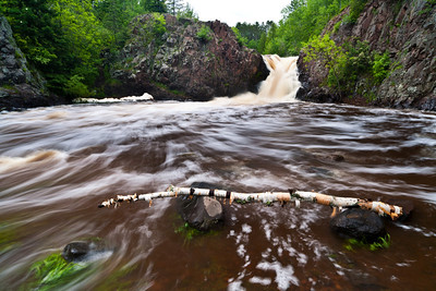 """The Shallows Waterfall"" on the Lester River swelling from the recent rains in the Duluth, MN area. 2/2"