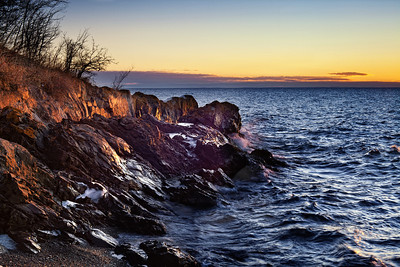 Winter Sunrise on Lake Superior