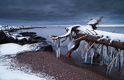 Lake Superior's Brighton Beach in the Winter