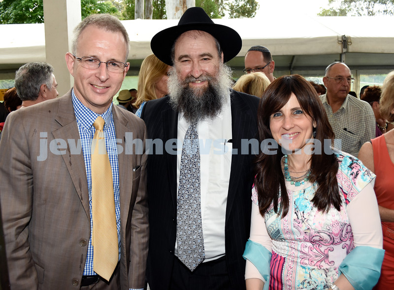 North Shore Synagogue's Classics at Dusk concert. MP Paul Fletcher, Rabbi Nochum Schapiro, Fruma Schapiro.