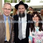 North Shore Synagogue's Classics at Dusk concert. MP Paul Fletcher, Rabbi Nochum Schapiro, Fruma Schapiro.