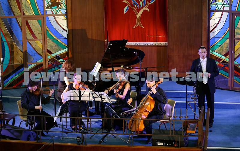 North Shore Synagogue's Classics at Dusk concert. Cantor Zvi Teichtahl (R).