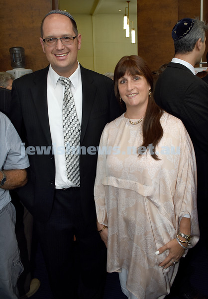 North Shore Synagogue's Classics at Dusk concert. Rabbi Paul Lewin with his wife Talya.