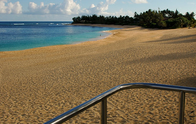 Sunset Beach  From Lifeguard Tower  Sunset Beach on the North Shore of Oahu, Hawaii