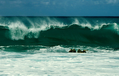 Waves, Beautiful waves  Surfing on beautiful turquoise waves at Sunset Beach   North Shore, Oahu, Hawaii