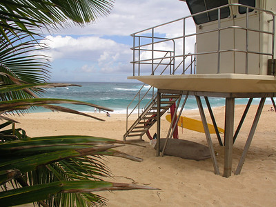 Sunset Beach   Lifeguard Tower  North Shore of Oahu, Hawaii