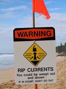 Warning sign    Rip Currents North Shore of O'ahu, Hawai'i