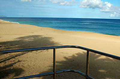 Sunset Beach   LIfeguard Tower, early morning North Shore of O'ahu, Hawai'i