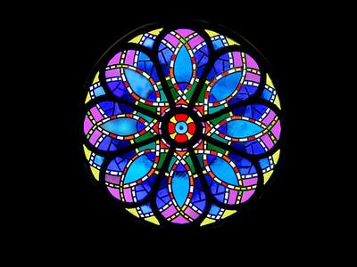 Lili'uokalani Church's stained glass