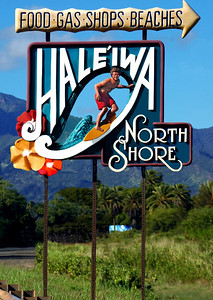 Haleiwa on the North Shore, with the Waianae Mountains as a backdrop Approaching town heading northwest.  In 1984, Hale'iwa was designated a State Historic, Cultural and Scenic DistrictHale'iwa, North Shore of O'ahu, Hawai'i  There are two mountain ranges on the island of Oahu, each formed by a different volcano.  Waianae Volcano formed the Waianae Mountain Range on the western part of O'ahu. The Koolau Volcano formed the Koolau Mountain Range that runs along the eastern part of the island.  The Waianae Mountain Range is warmer and drier then the Ko'olau Range. The earth on this part of the island is red.  The Waianae mountain range is about 22 miles long, and its highest peak, Mount Ka'ala, is also the highest spot on the island of Oahu at 4025 feet.