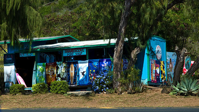 Surf shop across from Shark's Cove  North Shore, Oahu, Hawaii