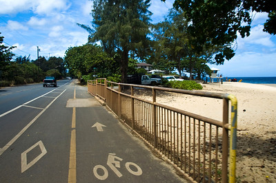 North Shore Ke Ala Pupukea Bike Path  This section by RockPile runs along the Kamehameha Hwy for awhile  North Shore, Oahu, Hawaii