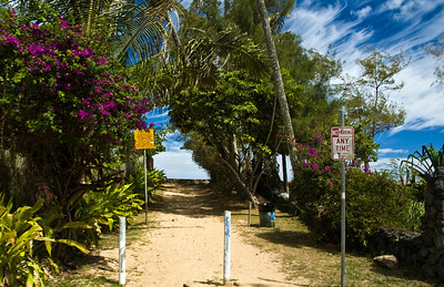 Taking a detour to Rocky Point North Shore Ke Ala Pupukea Bike Path  North Shore, Oahu, Hawaii