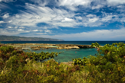 Shark's Cove in summer North Shore Ke Ala Pupukea Bike Path  North Shore, Oahu, Hawaii