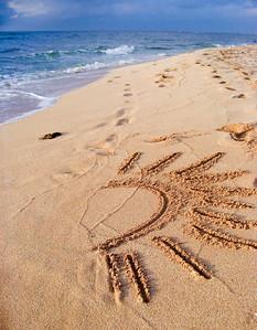 Sandwriting on the beach