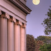 Taken at Como Park, this is the Pavilion with the full moon rising in the background.
