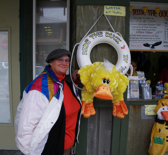 Even in wet Ketchikan, Yours Truly is still a Dux at heart!