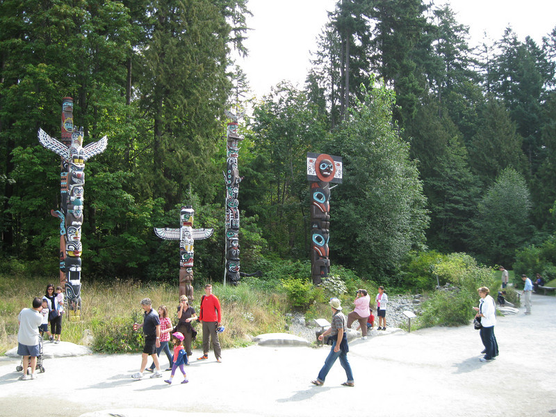 A nice wild stand of totem poles in the famous Stanley Park<br /> <br /> Where's Cando?