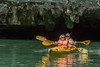 Sea kayaking Luon Cave, Ha Long Bay, north Vietnam