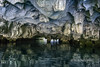 Cave entrance in the limestone karst formations of Ha Long Bay, north Vietnam