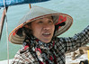 Portait of a boat woman, Ha Long Bay, north Vietnam