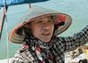 Portait of a boat woman, Ha Long Bay, north Vietnam