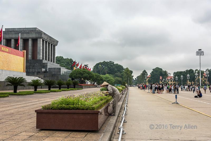 Tourists on Hung Vuong street